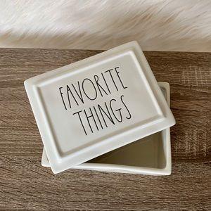 "Rae Dunn ""Favorite Things"" Jewelry Box"
